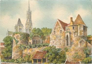 """/ CPSM FRANCE 60 """"Senlis, le château Henri IV et la cathédrale"""""""