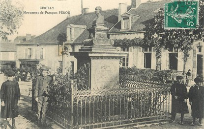 "/ CPA FRANCE 03 ""Cerilly, monument de François Péron"""
