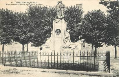"""/ CPA FRANCE 51 """"Chalons sur Marne, monument des écoles des arts et métiers"""""""