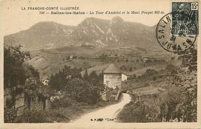 Salins les Bains, la tour d'Andelot et le Mont Poupet