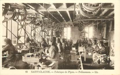 Saint Claude, Fabrique de pipes, polisseuses