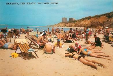 "CPSM ISRAEL ""Netanya , la plage"""