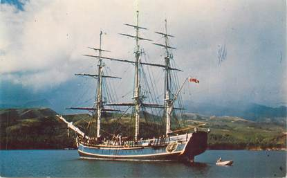 "CPSM TAHITI ""Le Bounty dans la baie de Matavai"" / BATEAU"