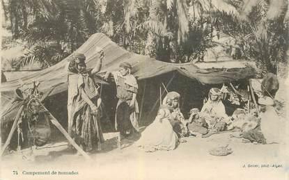 """CPA ALGERIE """"campement de nomades"""""""