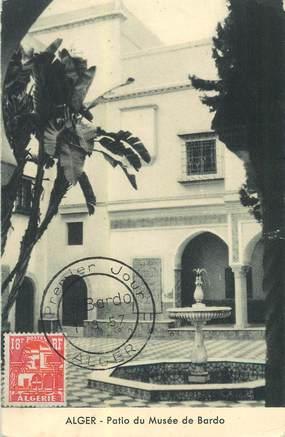 "CPA ALGERIE  "" Alger, Patio du Musée de Bardo"" / CARTE MAXIMUM"