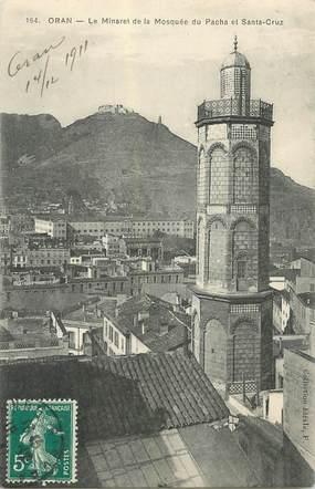 """CPA ALGERIE  """"  Oran, le Minaret de la Mosquée du Pacha"""""""
