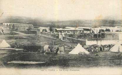 """CPA MAROC """"Taza, le camp d'aviation"""""""