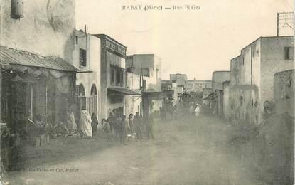 """CPA MAROC """"Rabat, rue El Gza"""""""