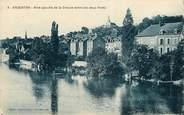 36 Indre Argenton, rive gauche de la Creuse entre les deux ponts