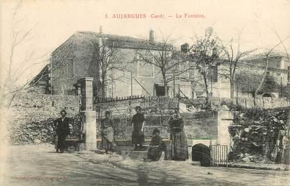 """CPA FRANCE 30  """"Aujargues, La Fontaine"""""""