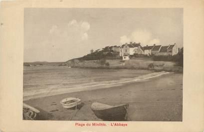 "/ CPA FRANCE 35 ""Plage de Minihic, l'abbaye"""
