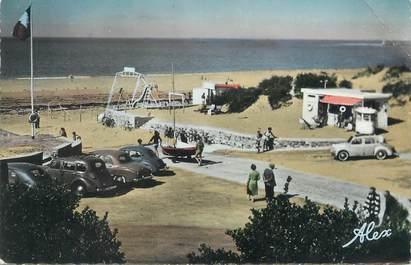 """/ CPSM FRANCE 50 """"Barneville sur Mer, entrée de la plage, La Rampe"""""""