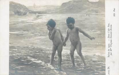 CPA NU Salon de 1907 Dans l'air pur / ENFANT
