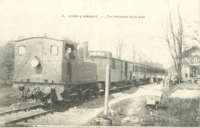"""CPA FRANCE 93 """"Livry L'Abbaye, vue intérieure de la gare"""" / TRAIN"""