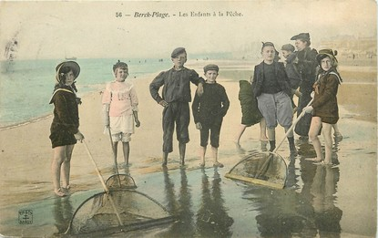 Berck Plage, les enfants à la pêche