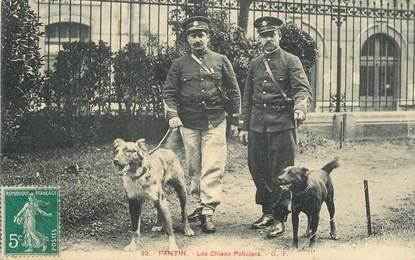 "CPA FRANCE 93 ""Pantin, les chiens policiers"""