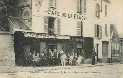 """CPA FRANCE 93 """"Sevran, café de la place, Maison E. DUCROCQ"""""""