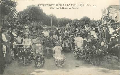 """CPA FRANCE 94 """"Bry sur Marne, Fête printanière de la pépinière, 1912, concours de brouettes fleuries"""""""