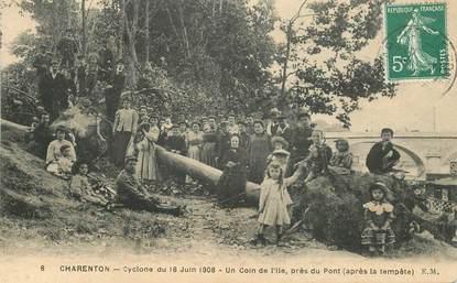 "CPA FRANCE 94 ""Charenton,  Cyclone du 16 juin 1908"""