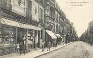 """95 Val D'oise CPA FRANCE 95 """"Enghien les bains, la grande rue, Papeterie Imprimerie L. Seché"""""""