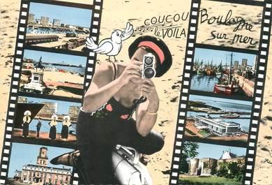"""/ CPSM FRANCE 62 """"Boulogne sur Mer, divers aspects"""""""