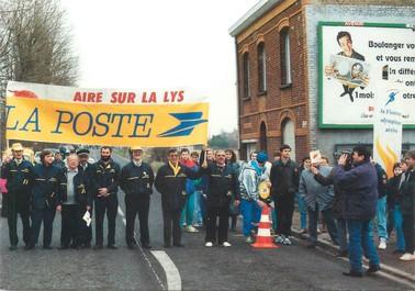 """/ CPSM FRANCE 62 """"Essarts, passage de la Flamme Olympique"""""""