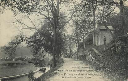 """/ CPA FRANCE 08 """"Fumay, ardoisière Belle Rose et avenue de divers Monts"""""""
