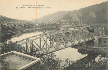 "/ CPA FRANCE 08 ""Revin, vue panoramique et le pont"""
