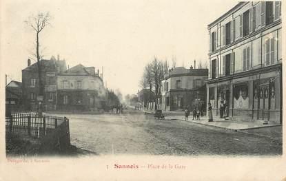 cpa france 95 sannois place de la gare 95 val d 39 oise sannois 95 ref 91380. Black Bedroom Furniture Sets. Home Design Ideas