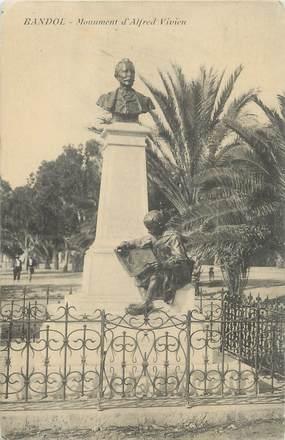 "/ CPA FRANCE 83 ""Bandol, monument d'Alfred Vivien"""