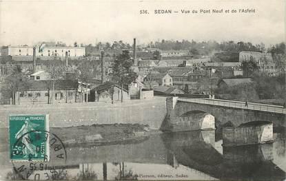 """/ CPA FRANCE 08 """"Sedan, vue du pont neuf et de l'Asfeld"""""""