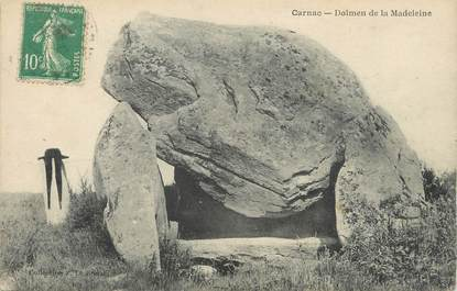 "/ CPA FRANCE 56 ""Carnac, dolmen de la Madeleine"""