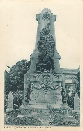"""/ CPA FRANCE 11 """"Trèbes, monument aux morts"""""""