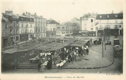 "/ CPA FRANCE 95 ""Montmorency, place du marché"""