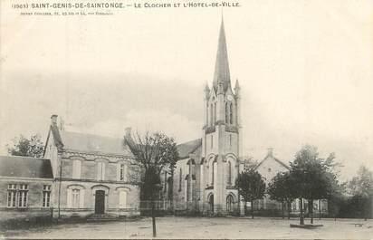 """/ CPA FRANCE 17 """"Saint Genis de Saintonge, le clocher et l'hôtel de ville"""""""
