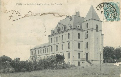 """/ CPA FRANCE 17 """"Saintes, orphelinat des chemins de fer Français"""""""