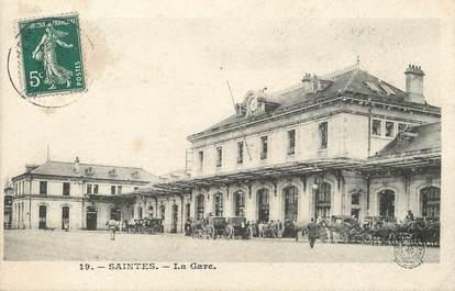 """/ CPA FRANCE 17 """"Saintes, la gare"""""""