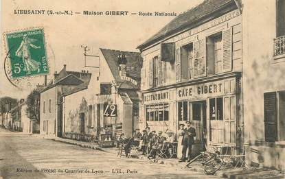 "CPA FRANCE 77 ""Lieusaint, Maison GIBERT, la route Nationale"""