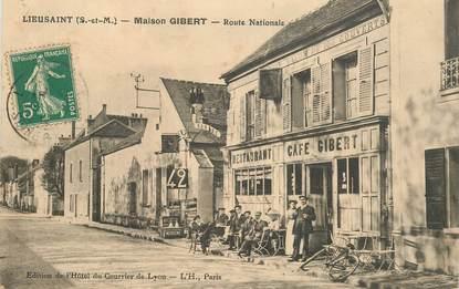 """CPA FRANCE 77 """"Lieusaint, Maison GIBERT, la route Nationale"""""""