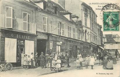 """CPA FRANCE 77 """"la Ferté Gaucher, Hotel du Sauvage"""""""