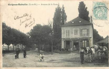 """CPA FRANCE 77 """"Guignes Rabutin,  avenue de la gare"""""""