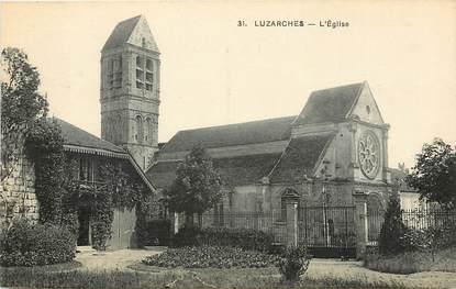 """CPA FRANCE 95  """"Luzarches, l'Eglise"""""""