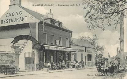 "CPA FRANCE 77 ""Malnoue, le restaurant du TCF"""
