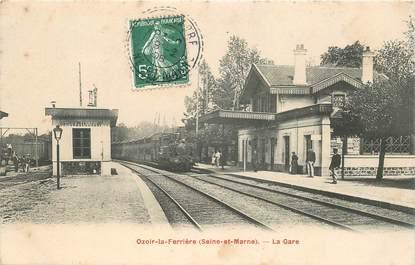 """CPA FRANCE 77 """"Ozoir la Ferrière, la gare"""" / TRAIN"""