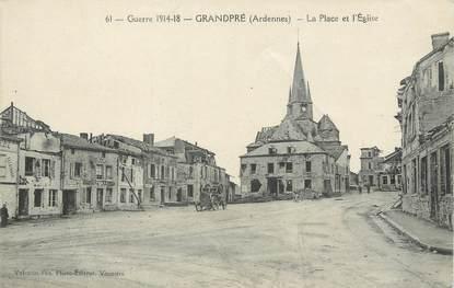 """/ CPA FRANCE 08 """"Grandpré, la place et l'église"""""""