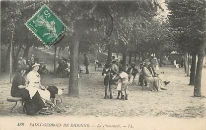 """/ CPA FRANCE 17 """"Saint Georges de Didonne, la promenade"""""""