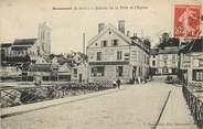 """95 Val D'oise CPA FRANCE 95  """"Beaumont, entrée de la ville et l'Eglise"""""""