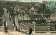 """76 Seine Maritime / CPA FRANCE 76 """"Sainte Adresse, Nice Havrais, le grand escalier et les villas"""""""
