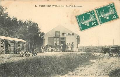 "CPA FRANCE 77 ""Ponthierry, le Petit Robinson, Restaurant"""