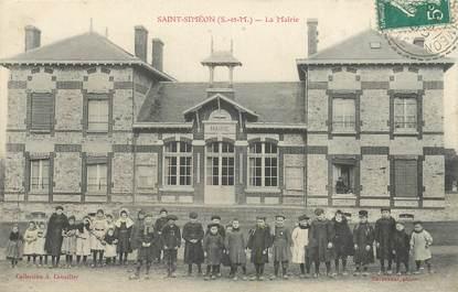 """CPA FRANCE 77 """"Saint Siméon, la Mairie"""""""